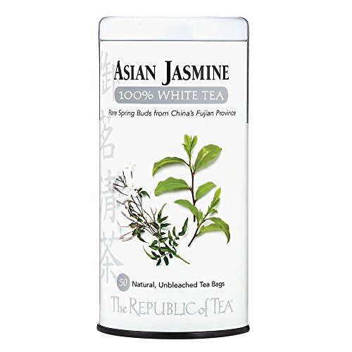 The Republic of Tea Asian Jasmine White Tea, 50-Count