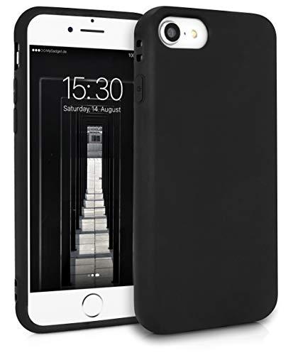 MyGadget Cover per Apple iPhone 7/8 / SE 2020 - Custodia Protettiva in Silicone Morbido – Case TPU Flessibile - Protezione Antiurto & Antigraffio Nero