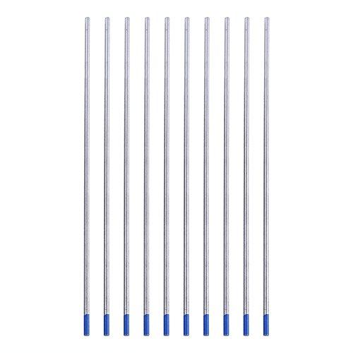 Electrodo de Tungsteno de Lantano, Electrodos de Tungsteno Azul WL20 Excelente Rendimiento de Soldadura Fácil de Crear un Arco Eléctrico(2.4 * 150mm)