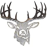 Everydecor Distressed Deer Cut-Out Metal Wall Decor
