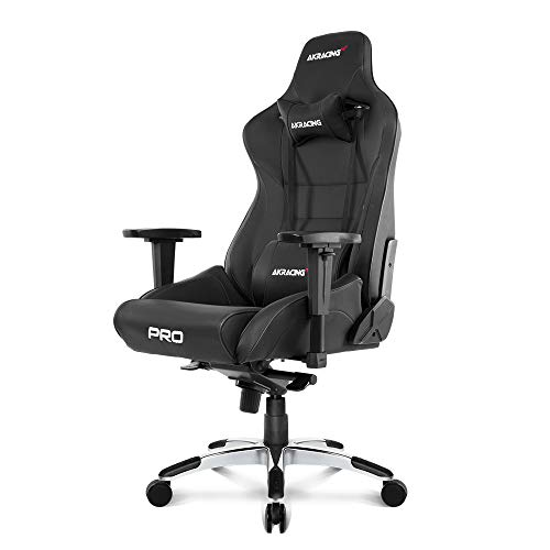 AKRacing Masters Series Pro Luxury XL Gaming Chair, BLACK