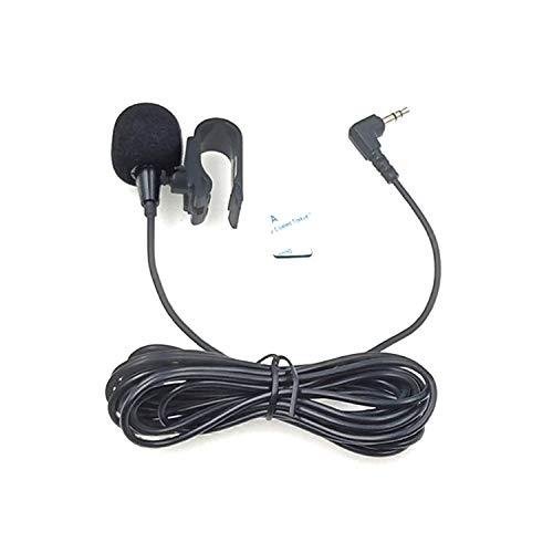 ZJ025MR Palo en el Clip del micrófono de Solapa estéreo for el Coche GPS/Bluetooth Activado Audio DVD micrófono Externo, la Longitud del Cable: 3m, Codo de 90 Grados de 2,