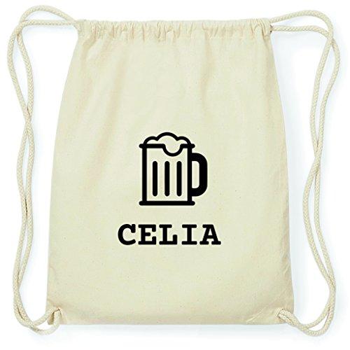 JOllify Turnbeutel - Happy Birthday - für Celia - Bier Gruß