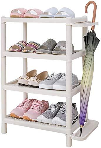 Wddwarmhome Zapato Simple de Madera Multi-Capa de pie, Estante de Almacenamiento, estantería de plástico, ensamblaje, estantería, estanterías, estantes de Acabado