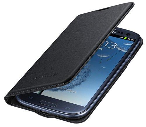 Samsung Hülle Schutzhülle Flip Wallet Hülle Cover für Samsung Galaxy S3 - Schwarz
