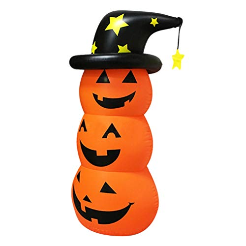 DOITOOL Aufblasbarer Halloween-Kürbis-Dekorationen für die Dekoration im Außenbereich, Hof, Kürbis-Party, 1 Stück