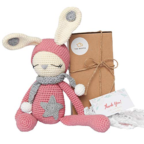 The Bunny Bunny Stuffed Animal Material, Perfect Knitting Skills, Sophisticated Design- Ideal for Kids, Baby- A Childhood Friend in School, Home, Traveling Even Bedmate