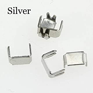 JWJY 3 5 8 10# Nylon Zipper Tailor Tools Stopper for Sewing Zippers Repair Accessories Metal Stopper 5 Colors 30pcs (Color : Silver, Size : 3#)