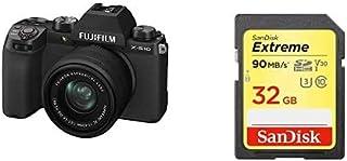 FUJIFILM ミラーレスデジタルカメラ X-S10 レンズキット(XC15-45) F X-S10LK-1545 ブラック 16670106+SDカードセット