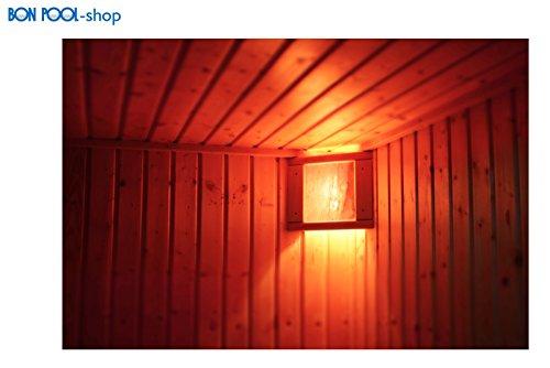 BON POOL Salzkristallleuchte Sauna Eckleuchte einfach