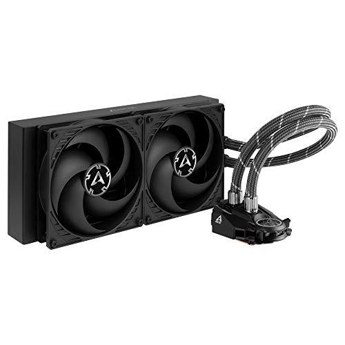 ARCTIC Liquid Freezer II 280 - Refroidisseur d'eau All-in-One CPU AIO multi-compatible, compatible Intel & AMD, pompe efficace contrôlée par PWM, vitesse ventilateur: 200-1700 RPM (contrôle PWM) Noir