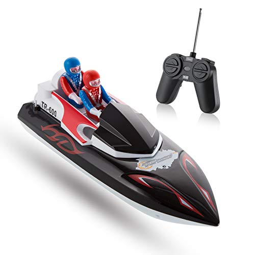 Top Race Remote Control Boat para Principiantes, My First Little RC Boat for Kids. TR-600