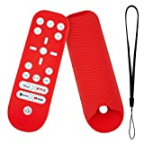 PS5 Remote Skin Red, Silicone Case with Lanyard Accessories Replacement for Sony PS5 Playstation 5 Media Remote