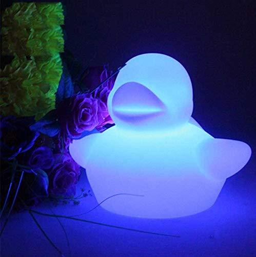 Wlnnes Luminous Schwimmen Enten-Nachtlicht RGB 16 RGB Farbwechsel & 4 Beleuchtung Farbwechsel Nette Ente Blinklicht Led leuchten Schwimmenten-Babyparty Badezimmer Toys29CM * 22CM