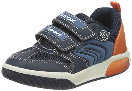 Geox Jungen J INEK Boy D Sneaker, Blau (Navy/Orange C0820), 35 EU