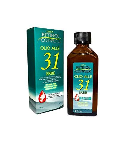 TradeShop - Retinol Complex - Aceite a las 31 hierbas sin parabenos, enfriador de dolor de cabeza, 100 ml – 29860.