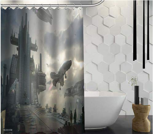 Cortina de Ducha Star Space Cortina de Ducha Tela Impermeable Cortina de baño para baño 180X200cm con Gancho
