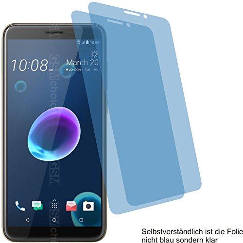 4ProTec I 2X Crystal Clear klar Schutzfolie für HTC Desire 12 Bildschirmschutzfolie Displayschutzfolie Schutzhülle Bildschirmschutz Bildschirmfolie Folie