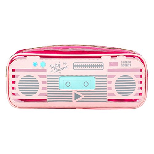 Pink Stereo Radio Cassette Wash Bag by Tatty Devine