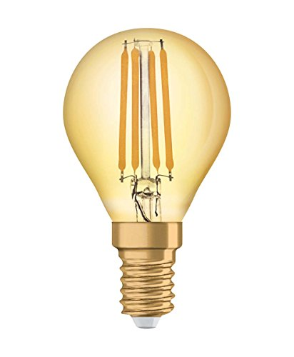 Osram Vintage Edition 1906 Ampoule LED à Filament - Culot E14 - Forme Sphérique Or Ambrée - Blanc Chaud 2500K - 4,5W (Équivalent 36W)