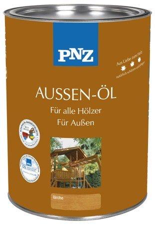 PNZ Aussenöl patinagrau 0,75 Liter - Holzöl für außen mit Nässe und UV-Schutz