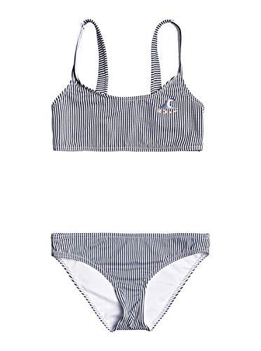 Roxy Early Conjunto De Bikini Bralette para Chicas 8-16 Conjunto De Bikini Bralette, Niñas, Mood Indigo Vogia S, 8