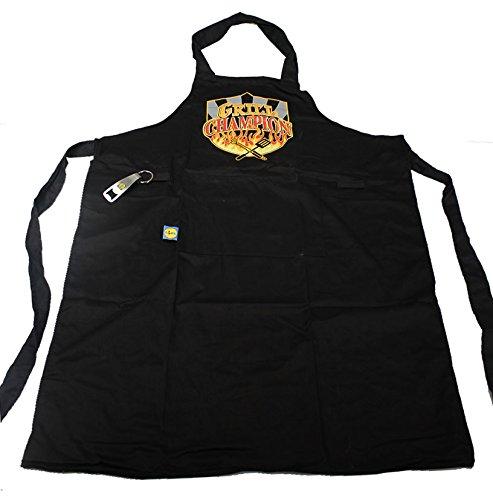 BBQ-schort schort BBQ champion grillmeester universele maat incl. flessenopener voor het bier tussendoor
