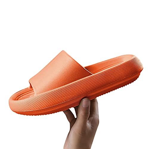 Dasongff - Zapatillas de estar por casa de secado rápido, para mujeres y hombres, suaves, gruesas, antideslizantes, masaje, para piscina, gimnasio, casa, para interior y exterior