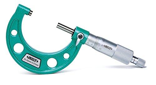 Insize 3203-100A - Micrómetro exterior (75 mm - 100 mm, graduación 0,01 mm)