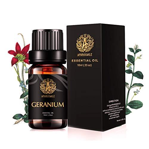 Aphrosmile Geranie Ätherisches Öl - 100% Reines Geranium Oil, Ätherisches Bio-Aromatherapieöl, 10 ml / 0,33 Unzen