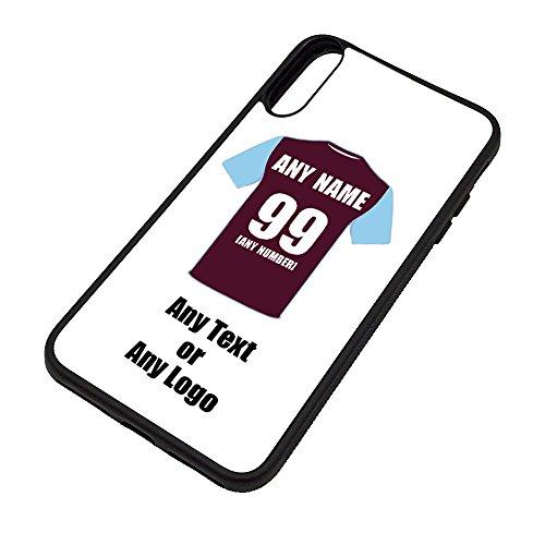 UNIGIFT persoonlijk cadeau - West Ham iPhone X/Xs hoesje (voetbal ontwerp kleur) - Elke naam bericht unieke TPU mobiele cover Apple - Academy United Club