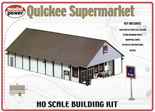 Model Power Quickee Supermarket Kit by Walthers - Life Like