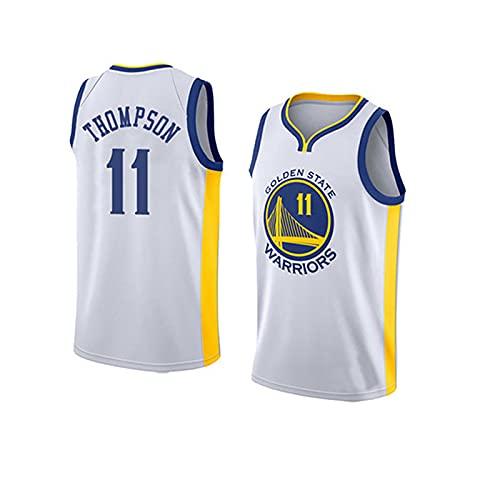 LGLE Camiseta de Baloncesto para Hombre - Klay Thompson - Basketball Warriors # 11, Camiseta de Baloncesto Swingman de Malla Bordada,C,XL
