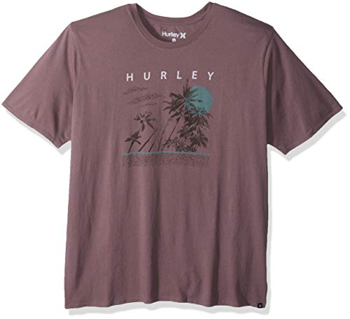 Hurley Men's Pebble Short Sleeve Tshirt, Plum Eclipse, XXL