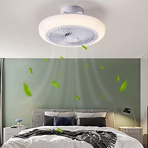 Deckenventilator,Mit Beleuchtung und Fernbedienung, 36W Lüfter-Deckenleuchte,Ultra-Leise Unsichtbar Fan Lampe,Einstellbare Windgeschwindigkeit,Für Schlafzimmer Esszimmer,45C-MAPP-Steuerung