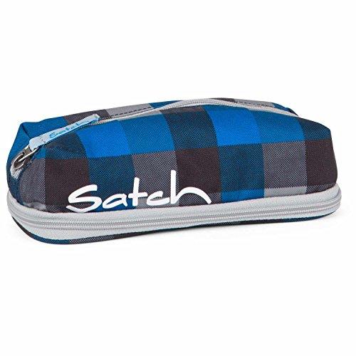 SATCH Airtwist Federmäppchen SAT-PEN-001-911, 22 cm, 1 L, Blue Grey Checks