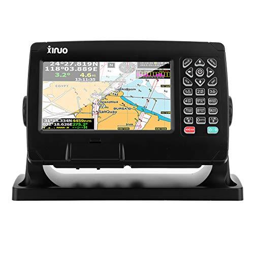 Trazador de navegación LCD retroiluminado de 7', pantalla táctil BDS/GPS IPX6 A prueba de agua a prueba de polvo AIS Alarma de navegación marítima Carta de barco Trazador, admite datos AIS