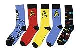 Star Trek The Original Series Uniforms Spock Crew Socks 5 Pair Pack