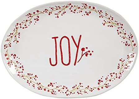 Cypress Home Holiday Platter Ceramic Farmhouse Dealing full price reduction San Francisco Mall