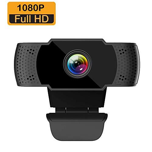ieGeek Webcam Full HD 1080P con Micrófono, Computadora Portátil PC de Escritorio USB 2.0 Cámara Web para Videollamadas,Estudios,Conferencias, Grabación, Juegos con Clip Giratorio