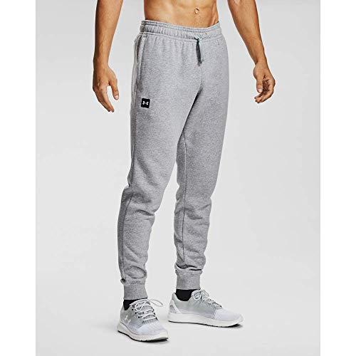 Under Armour Pantaloni Rival Fleece Jogger Pantaloni Tuta, Uomo, Mod Gray Light Heather / / Onyx White (011), XL