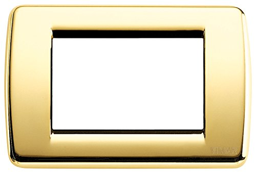 Vimar Placca Rond 3 m, Oro Lucido