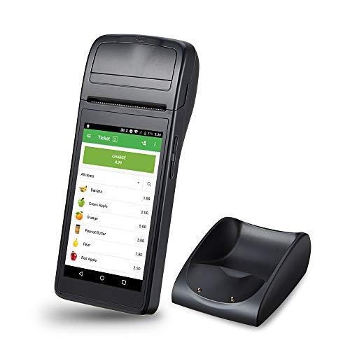blu supporto 8 GB Stampante per ricevute terminale POS Android Unione Europea 110-240v WIFI stampante per scanner di codici a barre portatile 58mm con display IPS da 5,5 pollici BT3.0 // 4.0