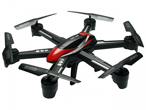 Pichler Sky Drone Fpv Camera 2.0 Mp Outdoors Flyinig Six Axis Gyro Auto Takeoff Landing Return Headless Mode Lipo Led Black