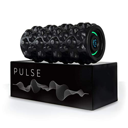Pulse Vibrating Foam Roller | 8 Speed Rechargeable Vibrating Foam Roller | Vibrating Roller | Foam Roller Vibration | Massage Roller for Muscles | Back Roller Massager