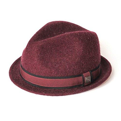 DASMARCA-Collection Hiver-déformable et Compressible-Chapeau en Feutre de Laine Bourgogne-Justin-S