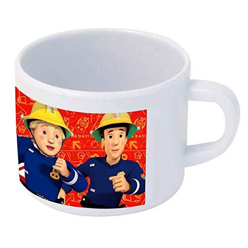 Feuerwehrmann Sam Kinder Tasse 240 ml | Kunststoff | Henkel-Becher