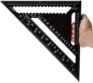 Black Triangle Ruler, 12 Inch High-precision Aluminum Profile Square, 30 Cm Triangle, Drawing Tool Dirgee