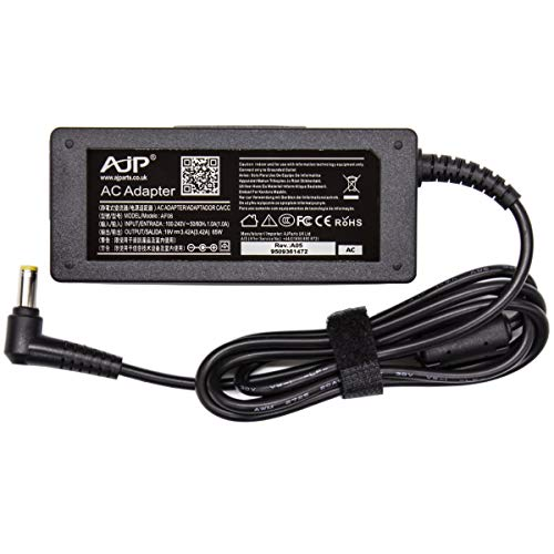 AJPARTS UK AJP@ New Replacement For Acer Lcd Monitor S240HL S220HQL S271HL H226HQL G226HQL S202HL HN274H 65W AC Adapter Charger Power Supply 5.5MM X 1.7 PSU Adaptor + Power Cord Quick Dispatch