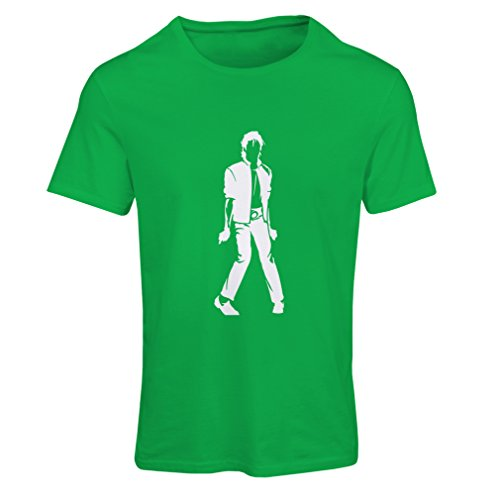lepni.me Camiseta Mujer Me Encanta M J - Rey del Pop, 80s, 90s Músicamente Camisa, Ropa de Fiesta (X-Large Verde Blanco)
